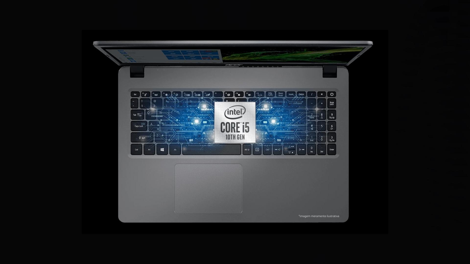 Hardware do Acer Aspire 3 - A315-54-54B1