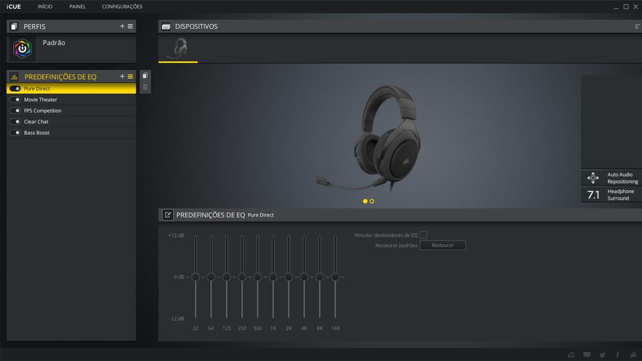Aplicativo do Corsair HS60 Pro