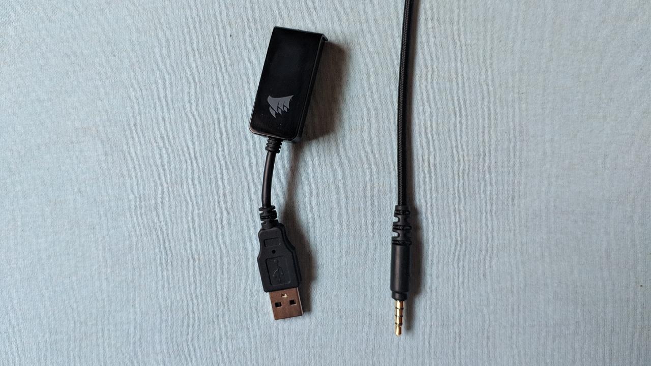 Fio e Adaptador do Corsair HS60 Pro