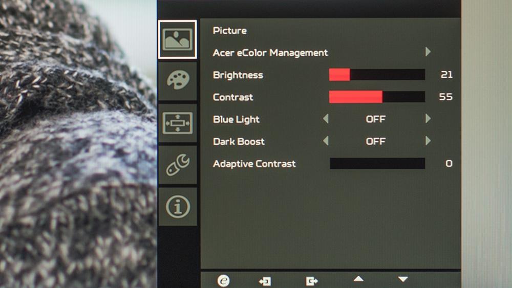 Acer Predator XB271HU: Tela