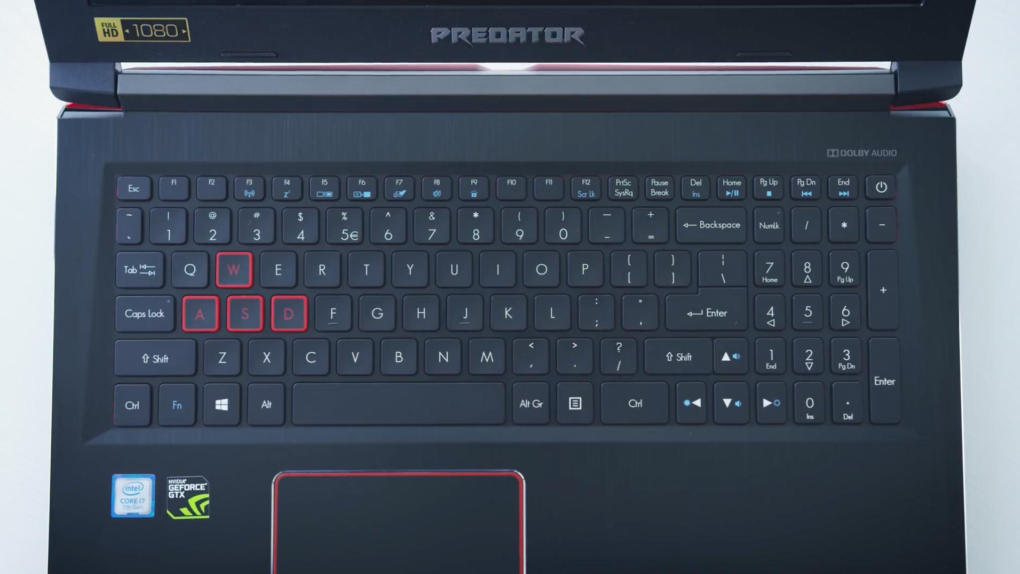 Análise Acer Predator Helio 300 G3: teclado