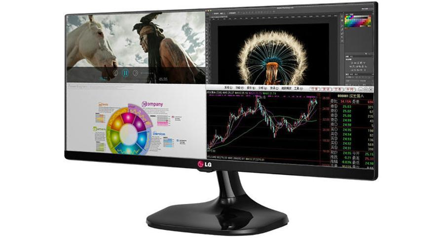 LG 25UM58: Split Screen e dois computadores no mesmo monitor